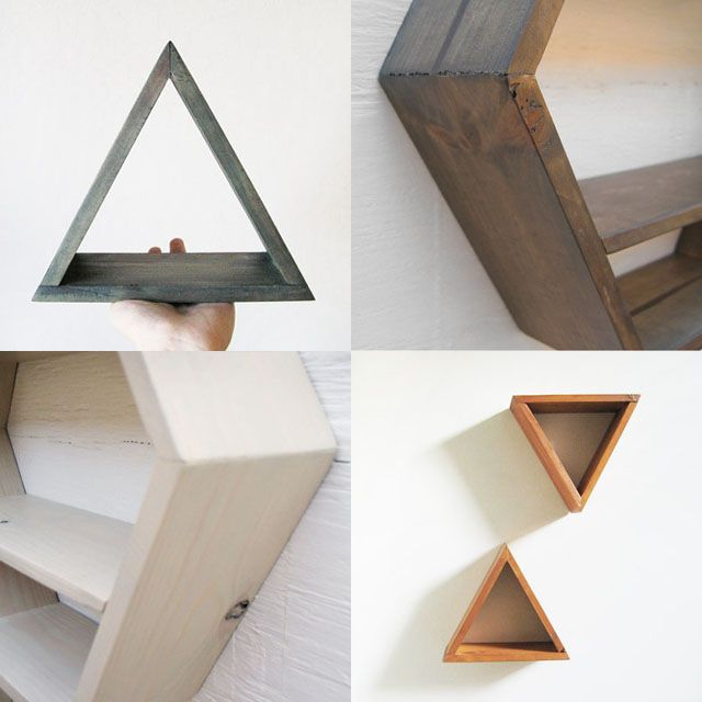 Geometric shelves / http://www.etsy.com/shop/Junglai