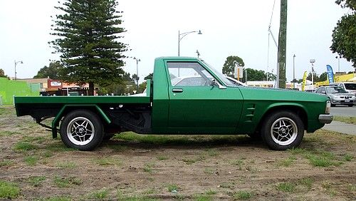 Holden one tonner with polished wood tray