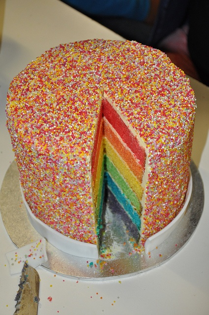rainbow sprinkles (hundreds and thousands) cake