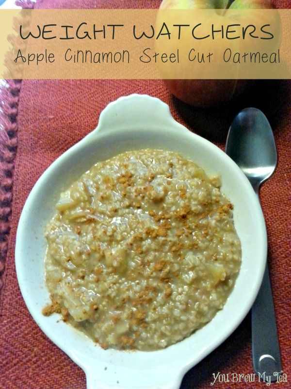 Weight Watchers Apple Cinnamon Steel Cut Oatmeal