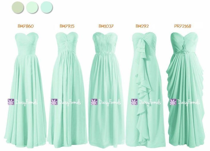 Chic Mint Green Bridesmaids Dress - One Color Wonders (MM167)