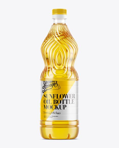 Sunflower Oil Bottle Mockup. Preview