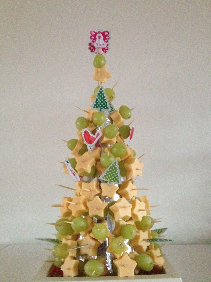 Kerstdiner kaas ster & druif