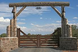 rustic entry/driveway gate