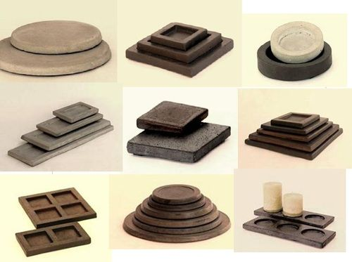 Bases de cemento para decorar con velas y otros objetos - Base de vela ...