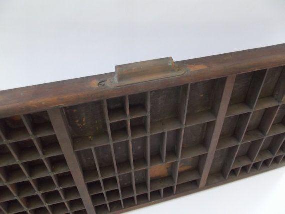 vintage Engelse houten letterbak drukpers door ProfessorVintage