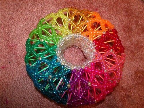 Rainbow Slinky Kandi Cuff