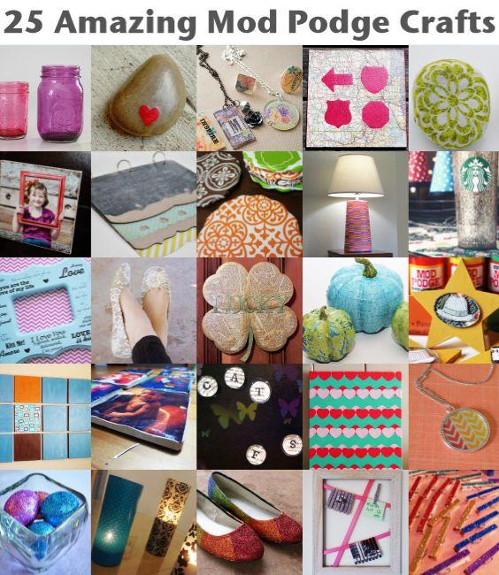 25 Amazing Mod Podge Crafts - great gift ideas!