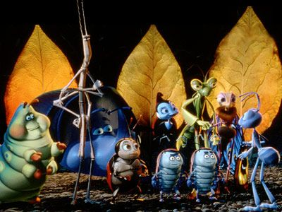 A Bug's Life | A BUG'S LIFE (1998) An accident-prone ant named Flik (voiced by Dave Foley) is sent to find a few good men, er, bugs to help…