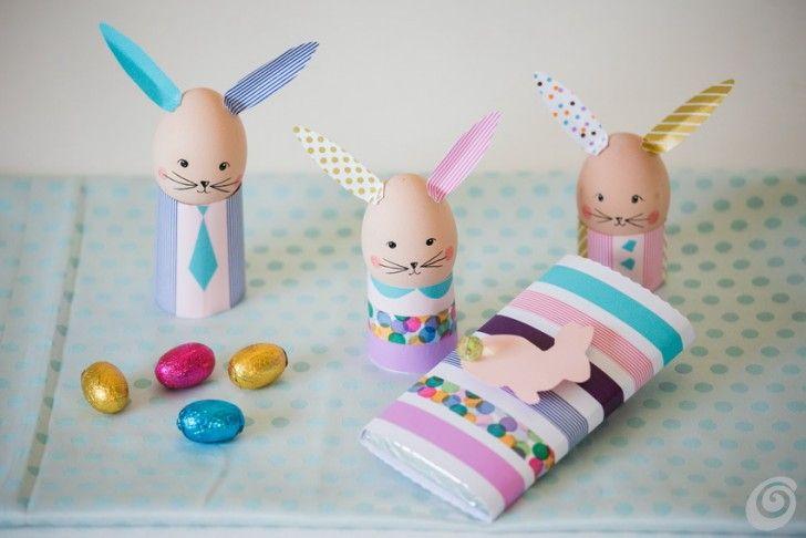 easter eggs and washi tape  Idee fai da te :: Uova pasquali con il nastro washi