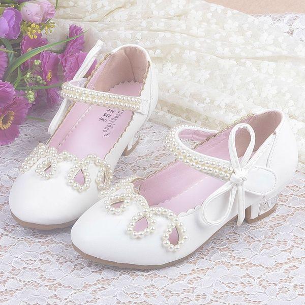 Children Princess Sandals Kids Girls Wedding Shoes High
