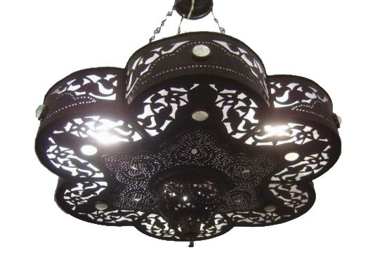 E Kenoz - Brass Black Oxidized Moroccan Chandelier With Glass Stones, $170.00 (http://www.ekenoz.com/moroccan-lighting/moroccan-chandeliers/brass-black-oxidized-moroccan-chandelier-with-glass-stones/)