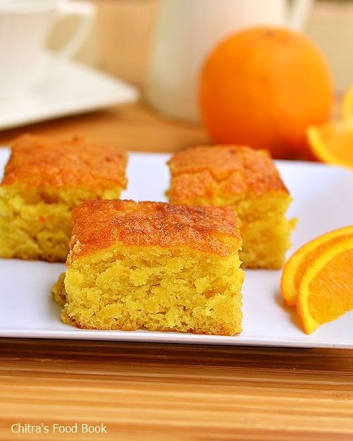 Eggless, butterless super soft Orange Cake for tea time - It's Vegan!