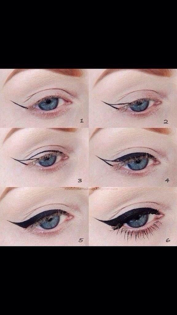 How madiburton99 said she did her eyeliner on Twitter
