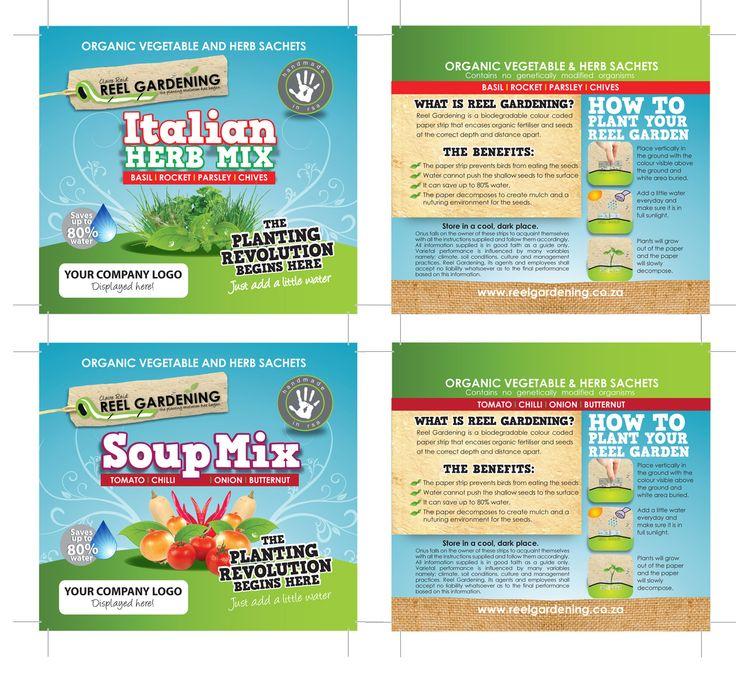 Reel Gardening Promotional Packs Design
