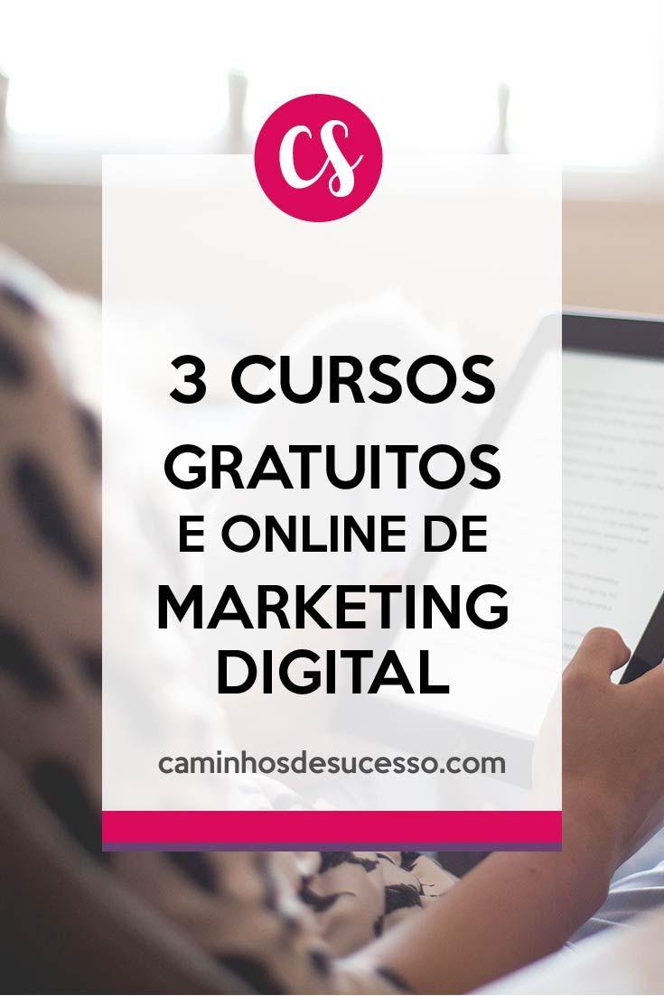 3 Cursos Online e Gratuitos de Marketing Digital para Iniciantes. ##marketingdigital #empreendedorismodigital #cursosgratuitos #cursosonline #cursosgrátis #cursosparainiciantes #cursosdemarketing