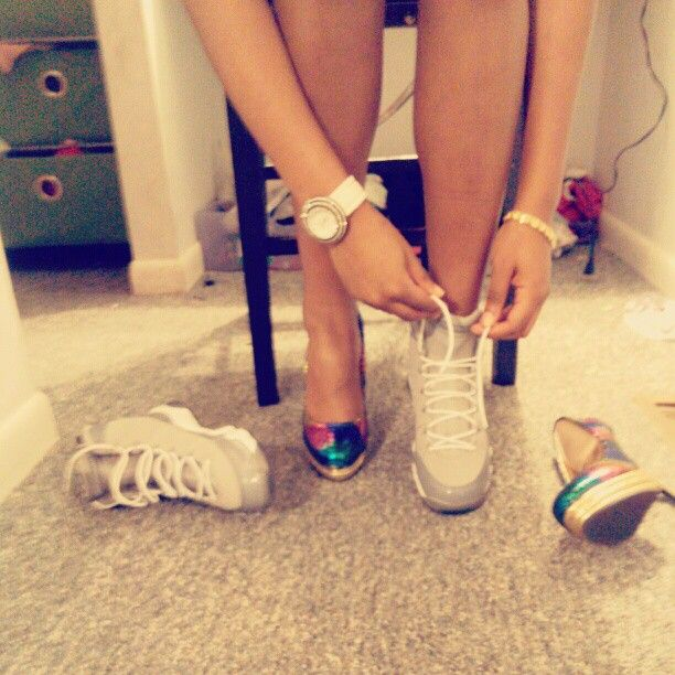 "If she could wear heels or Jordans and look good in them.shes a keeper  ""Cool Grey 9's"""