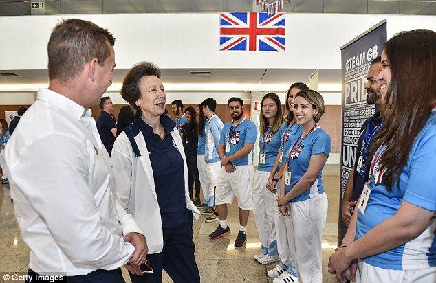 Anne's tour continued at the Federal University of Minas Gerias, where Team GB athletics a...