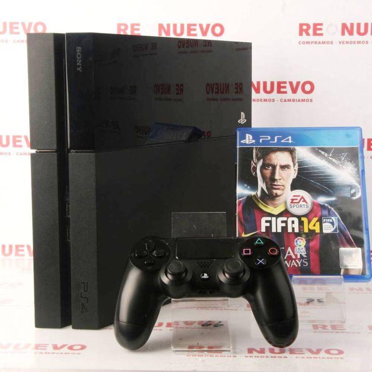 Consola PS4 de 500Gb + Mando + Fifa 14, de segunda mano E279913 | Tienda online de segunda mano en Barcelona Re-Nuevo