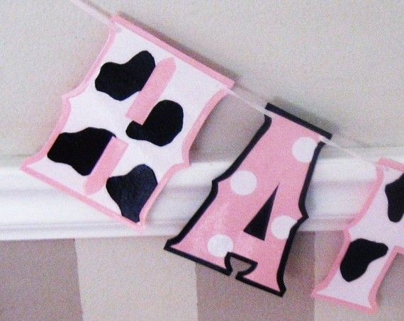 Baby Minnie and Cow HAPPY 1ST BiRTHDAY  BaBY Pink MiNNIE by Devany, $19.50Pink Minnie, Black And White, Cows Prints, Cows Happy, Baby Minnie, Baby Pink, 1St Birthdays, Happy 1St, Birthday Ideas