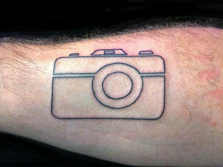 """camera outline tattoo & """"smile"""" on right index finger would be cute."""