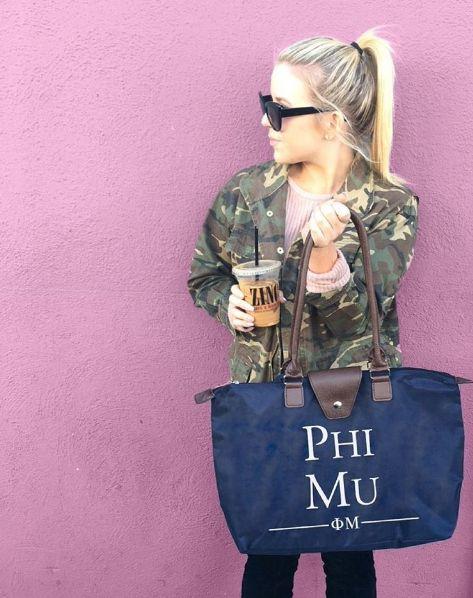 Phi Mu Tote | Sorority Recruitment | Bid Day Ideas | Big Little Gifts | Sorority Accessories