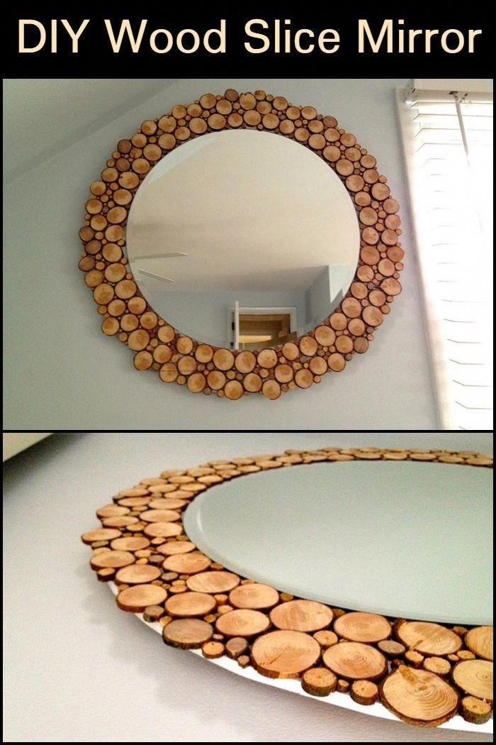 Mirror Mirror On The Wall Looking For A Weekend Diy Project Then This Mirror Could Be Just What You Diy Wall Decor For Bedroom Wood Diy Home Decor Mirrors
