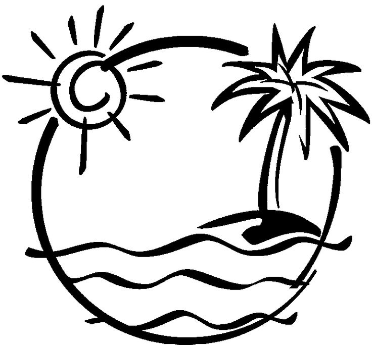 Download And Print These Beach Themed Coloring Pages For Free  Beach