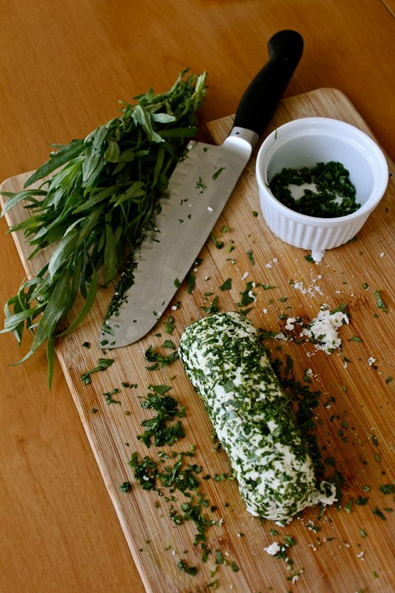Tarragon Macadamia Goat Cheese from The holy kale