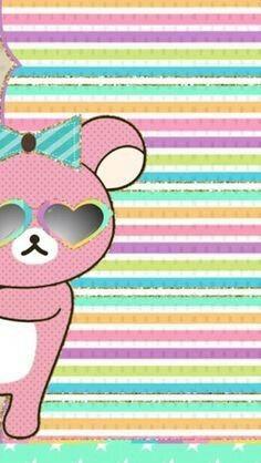 Bee Art Hello Kitty Wallpaper Kawaii Anime Apple Iphone Wallpapers Tiffany Blue Background Rilakkuma Sanrio Chibi