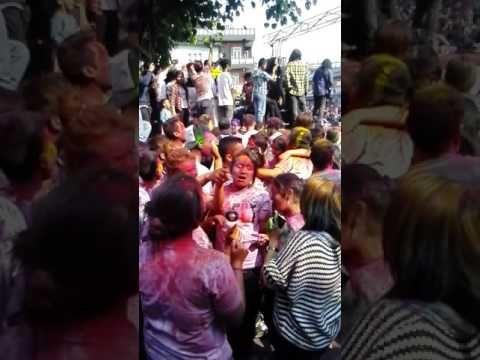 Jalma resham filili - holi festival in pokhara