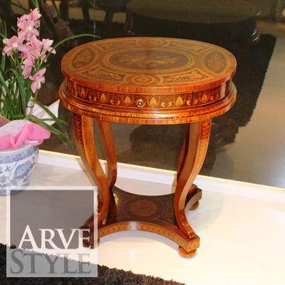 Tavolino Ovale Maggiolini intarsiato