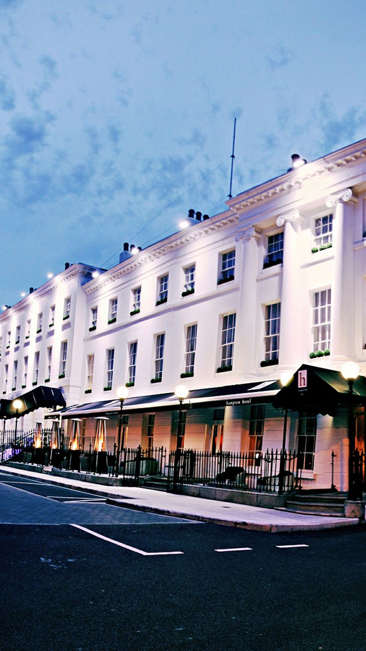 The stately Hampton Hotel's whitewashed exterior hints at its past life as a series of Georgian townhouses. #Ireland