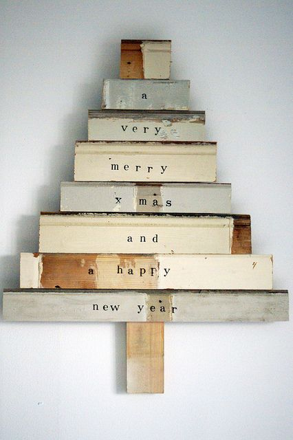 Cute x-mas tree from recycled timber