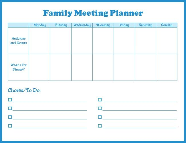 The  Best Family Meeting Ideas On   Family Schedule