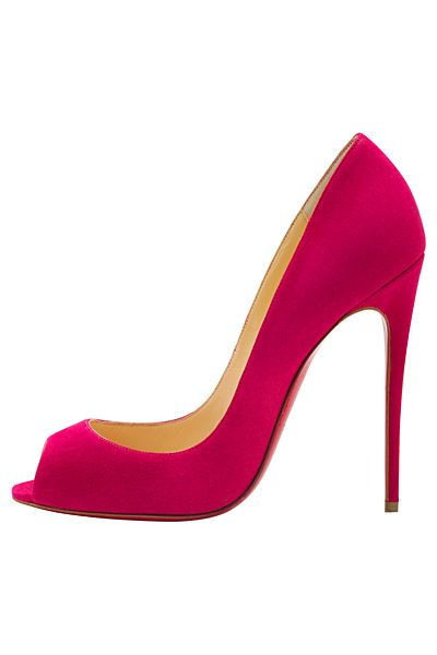 Christian Louboutin Pink Open-Toe Stiletto Pumps Spring Summer 2014 #CL #Louboutins #Shoes