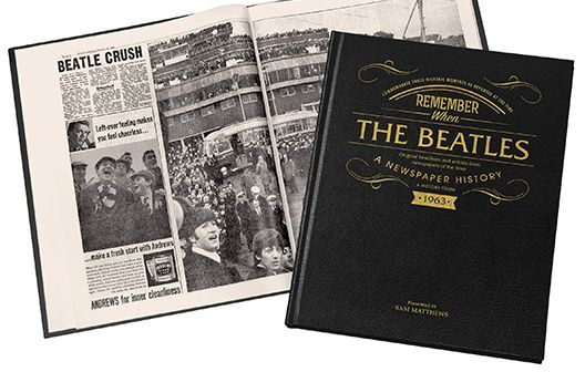 I Just Love It Beatles Edition - Newspaper Book Beatles Edition - Newspaper Book - Gift Details. Read about how Beatlemania took the UK USA and the whole world by storm!. The phenomenal rise to fame the break-up the tragic death of John Lennon a http://www.MightGet.com/january-2017-11/i-just-love-it-beatles-edition--newspaper-book.asp