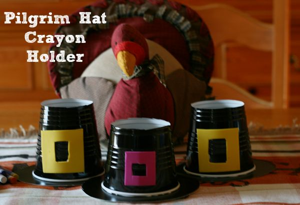 Thanksgiving Crafts for Kids Pilgrim Hat Tutorial @ Cupcakes and Crinoline; or to hold candy