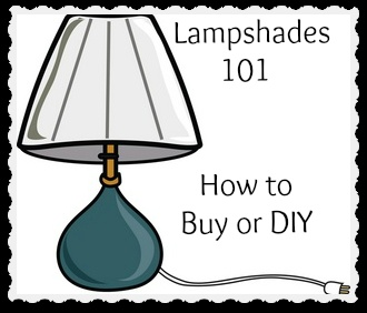 Lampshades 101 - How to Buy or DIY - make lampshades using fabric, rope, paint, or yarn to create a custom look