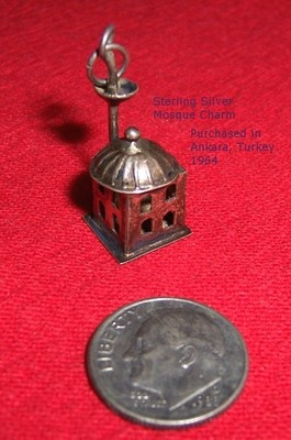 Don't miss this find on eBay! Vintage Sterling Silver Mosque Pendant Charm from Ankara Turkey