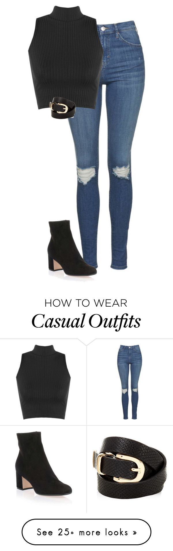 """""""Simple & Casual"""" by kaciwiens on Polyvore featuring Topshop, WearAll, Accessorize and Gianvito Rossi"""