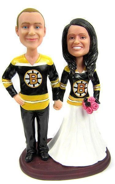 Hockey Wedding Cake Toppers featuring the jerseys of your choice