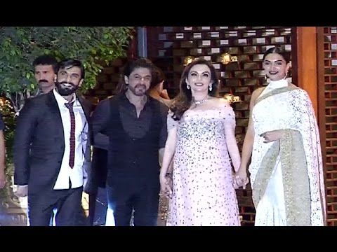 Shahrukh - Alia, Ranveer - Deepika At Mukesh Ambani's Niece's Pre Wedding Party.