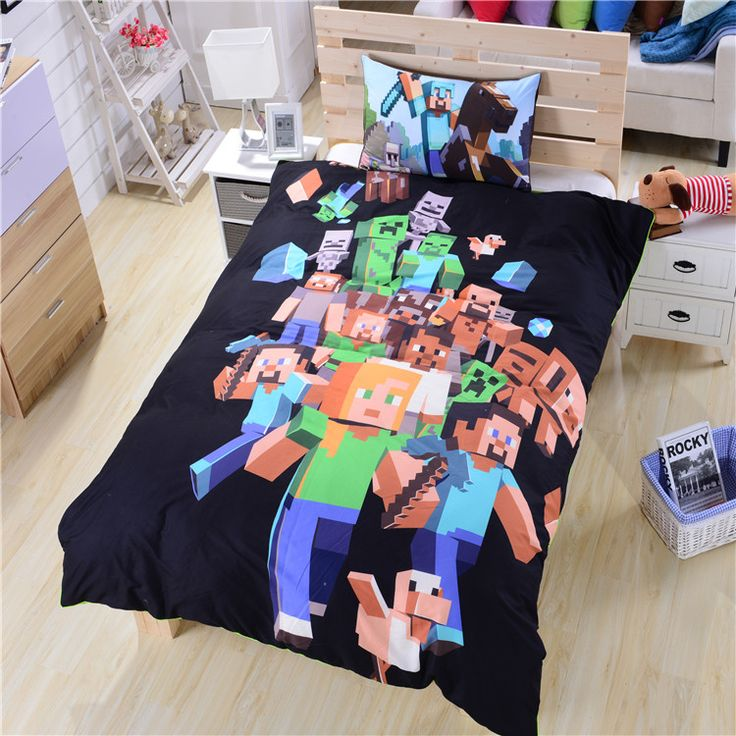 All out for Minecraft Bedding Hot New Minecraft Bed Sheets Twin/Single/Double Wholesale Dropship Gorgeous Bedding