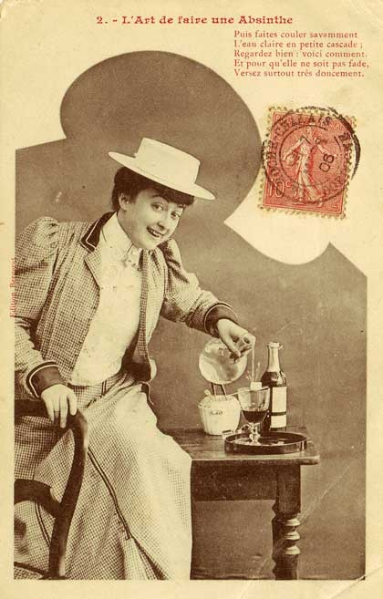 1906, two cubes of sugar for my absinthe, please.