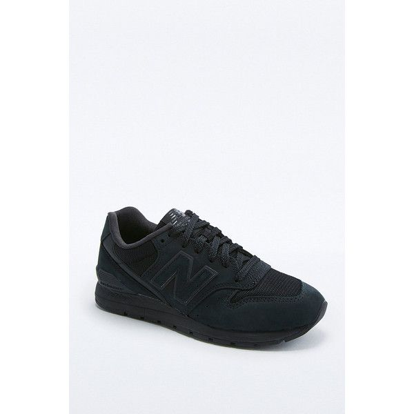 New Balance 996 All Black Running Trainers (17085 ALL) ❤ liked on Polyvore featuring shoes, athletic shoes, black, mesh running shoes, running shoes, wedges shoes and black mesh shoes