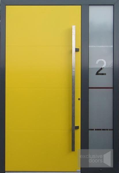 Customized Aluminium Front Door with sidelight