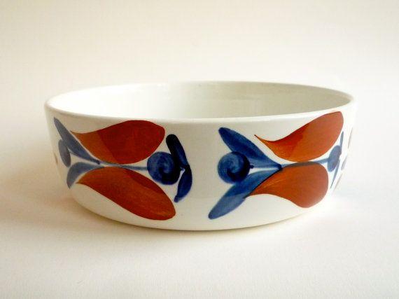 Rare Rorstrand Polka Casserole Dish - Marianne Westman Mid Century Ceramic. $58.00, via Etsy.