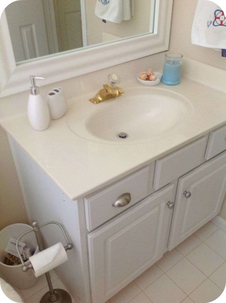 Model Bathroomvanityupgradeforonly60bathroomideaschalkpaintpainted