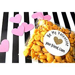 12 Heart Valentine's Day Stickers, Valentine's Party, Personalized Favors, Thank You Stickers, Goodie Bags, Class Party, Be Mine Labels
